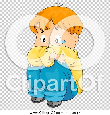 Royalty-Free (RF) Clipart Illustration of a Sad Boy Hugging His ...