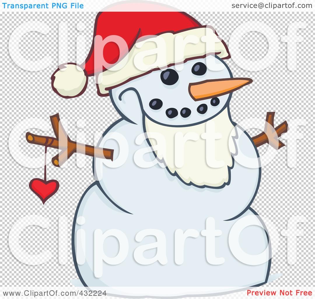 ... -Of-A-Santa-Snowman-Wearing-A-Beard-And-Santa-Hat-1024432224.jpg