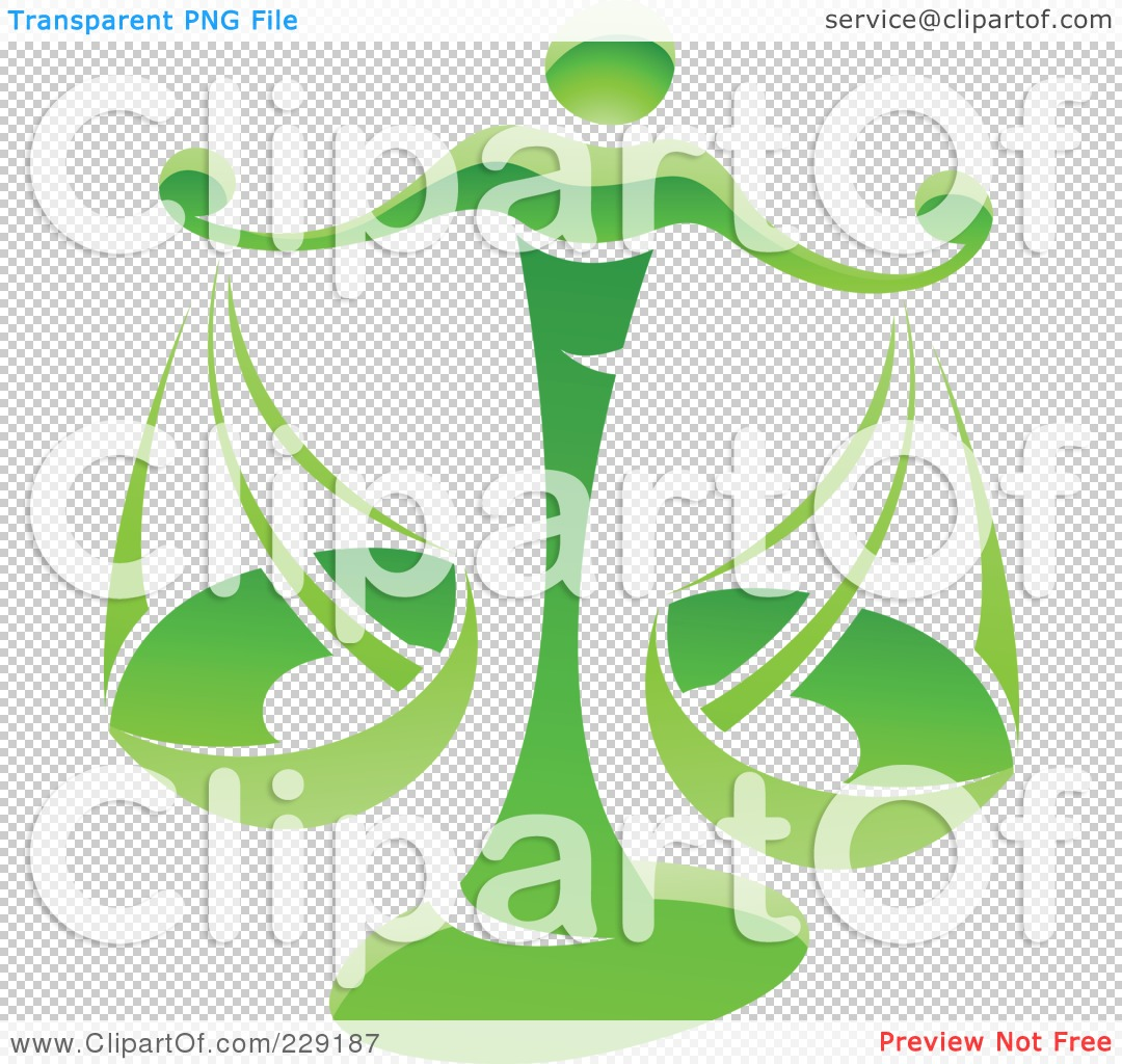 Royalty-Free (RF) Clipart Illustration of a Shiny Green Libra ...