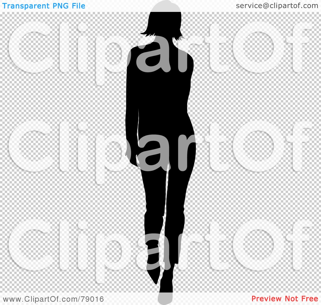 Royalty-Free (RF) Clipart Illustration of a Silhouetted Black ...