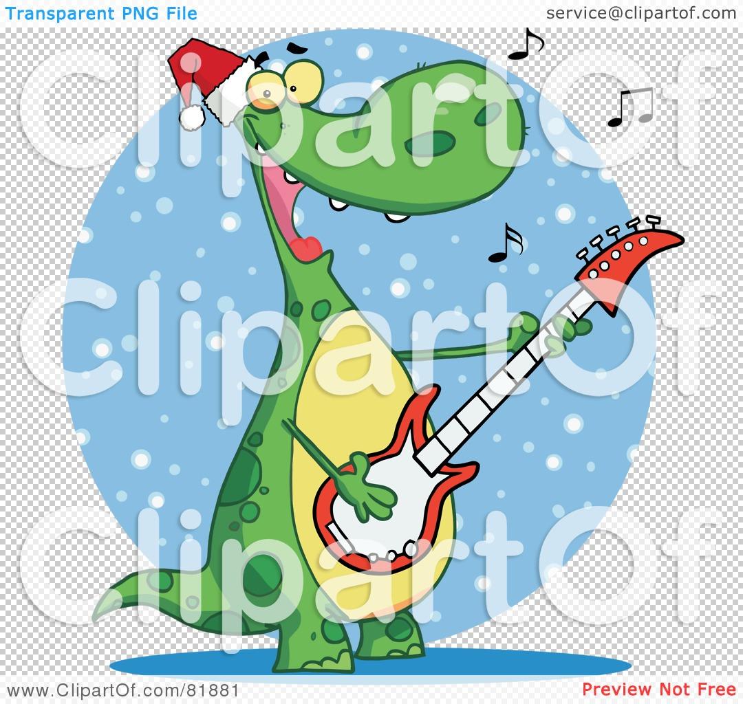 Royalty-Free (RF) Clipart Illustration of a Singing Dinosaur ...