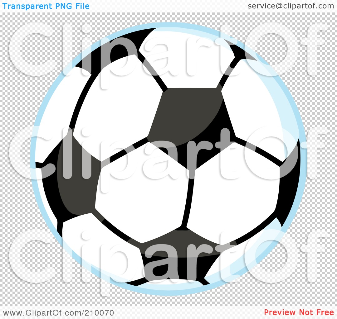Royalty-Free (RF) Clipart Illustration of a Soccer Ball With A ...