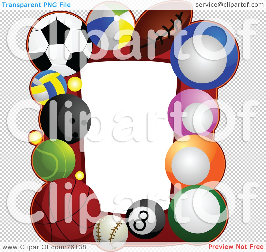 Royalty Free Rf Clipart Illustration Of A Sports Ball Frame By Bnp Design Studio 76138