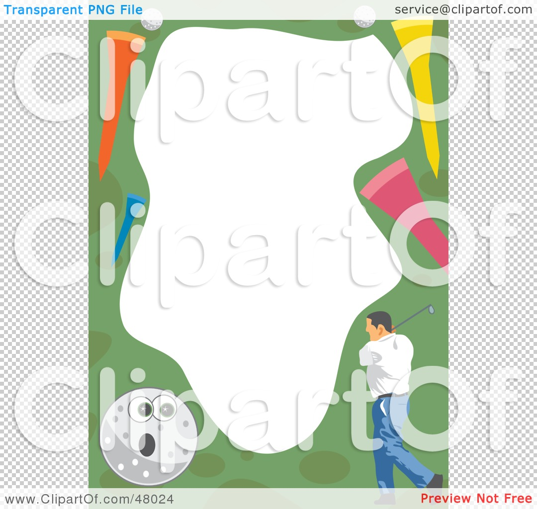 Royalty-Free (RF) Clipart Illustration of a Stationery Border Of A ...