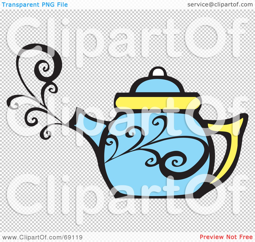 royalty free  rf  clipart illustration of a steamy blue Disposable Coffee Cup Clip Art Disposable Coffee Cup Clip Art