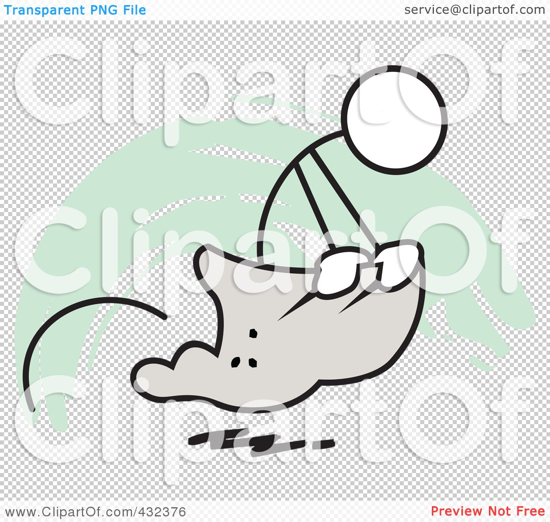 Royalty-Free (RF) Clipart Illustration of a Stickler Man Competing ...
