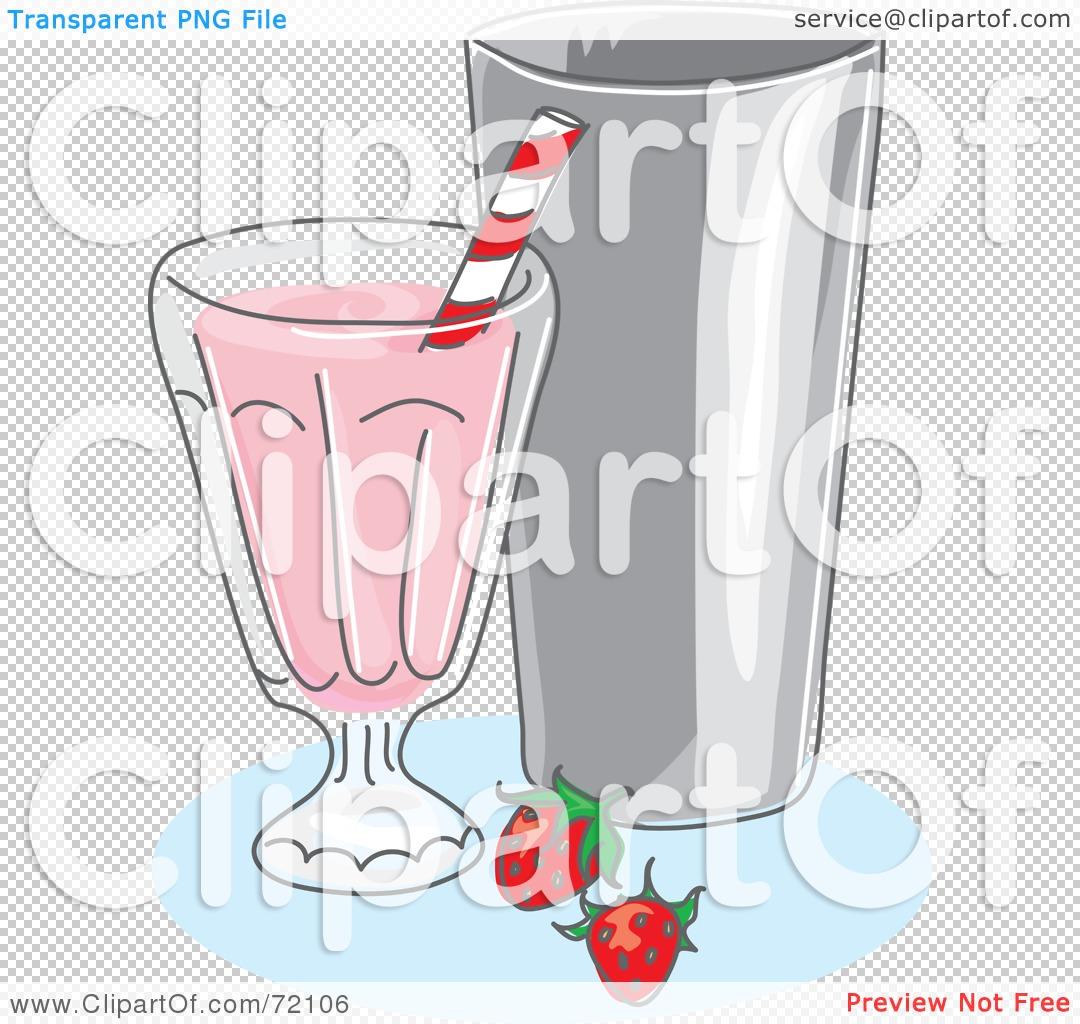 Royalty-Free (RF) Clipart Illustration of a Strawberry Milk Shake ...