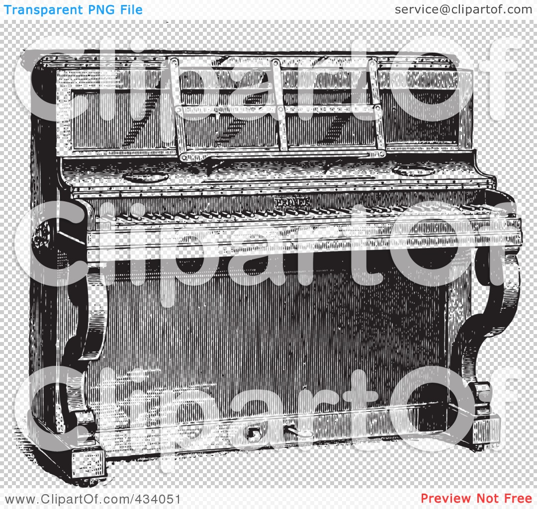 PNG file has a  Upright Piano Clip Art Black And White