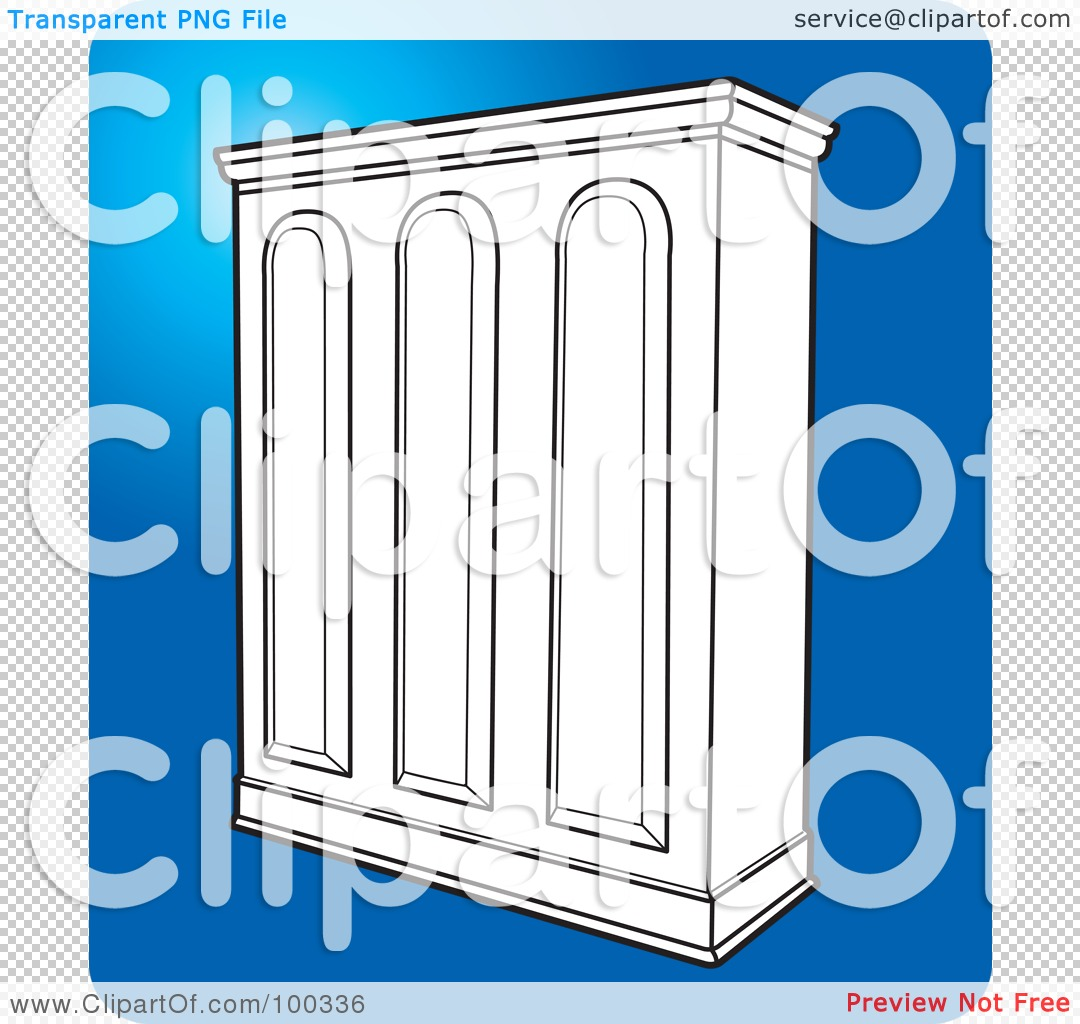 Cupboard Clip Art: Royalty-Free (RF) Clipart Illustration Of A White Cupboard