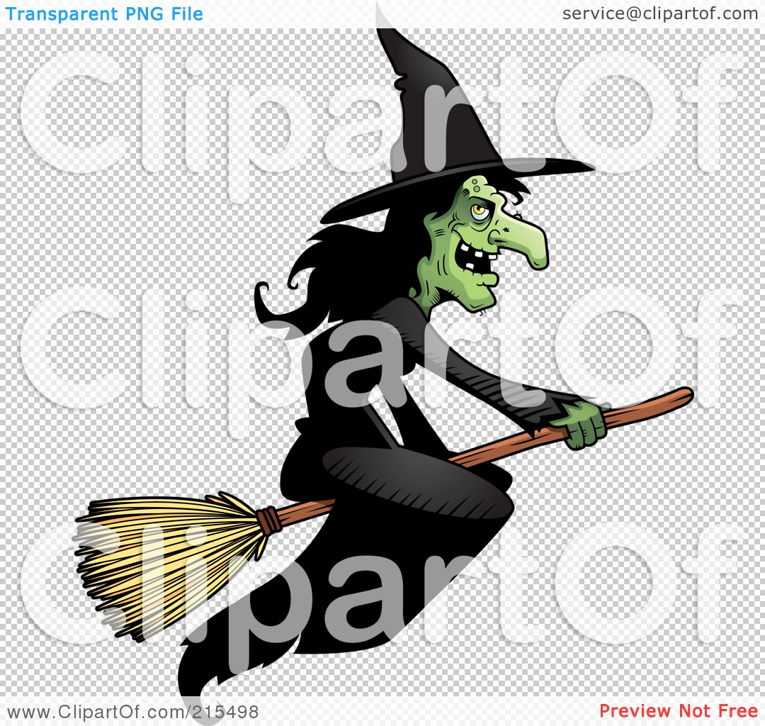 royalty free rf clipart illustration of a wicked witch in a