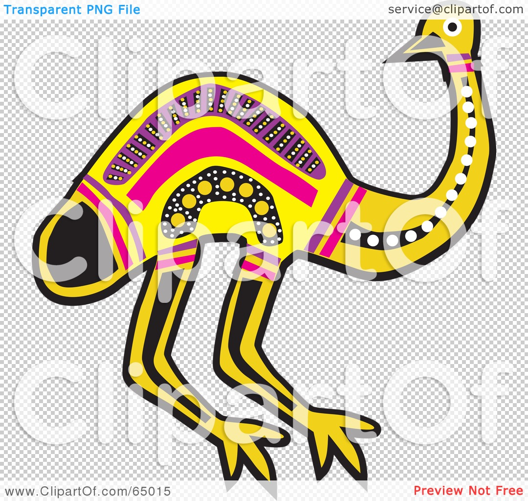 Royalty-Free (RF) Clipart Illustration of an Aboriginal Yellow And ...