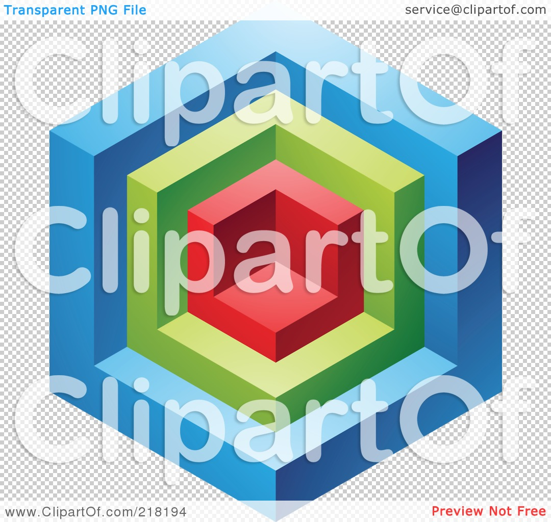 Royalty-Free (RF) Clipart Illustration of an Abstract Blue, Red ...