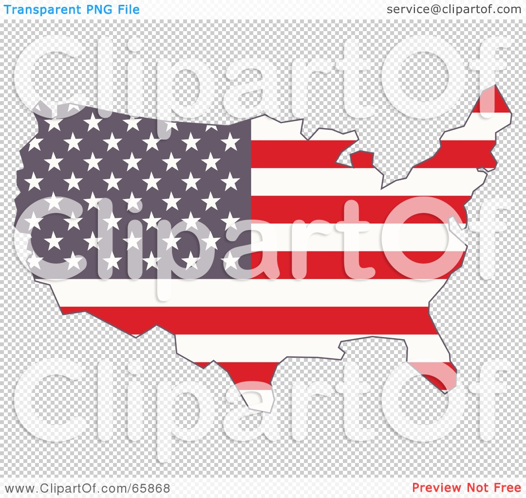 RoyaltyFree RF Clipart Illustration Of An American Flag Map By - Us map american flag