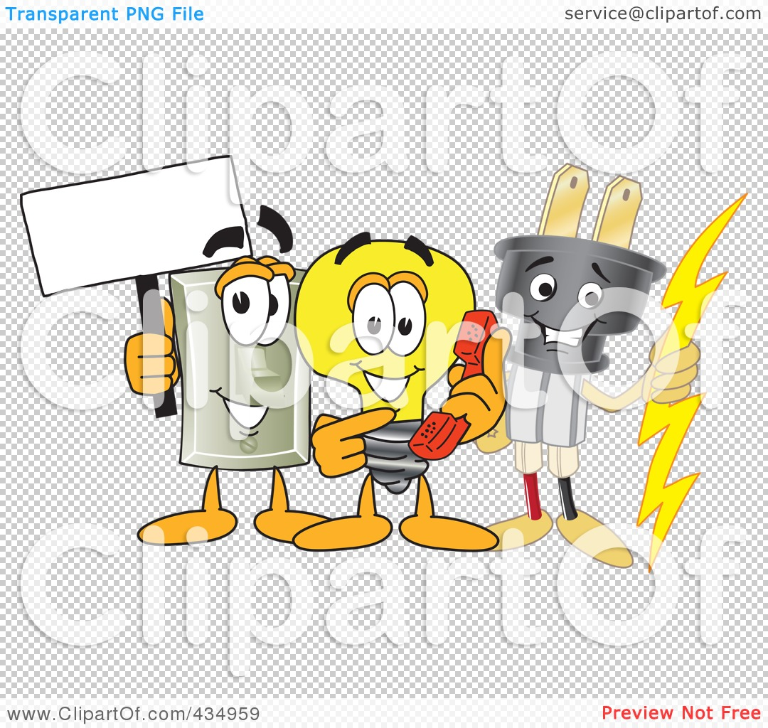 Royalty Free Rf Clipart Illustration Of An Electric Plug