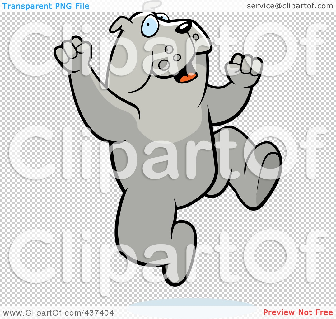 Bulldog Jumping Clipart