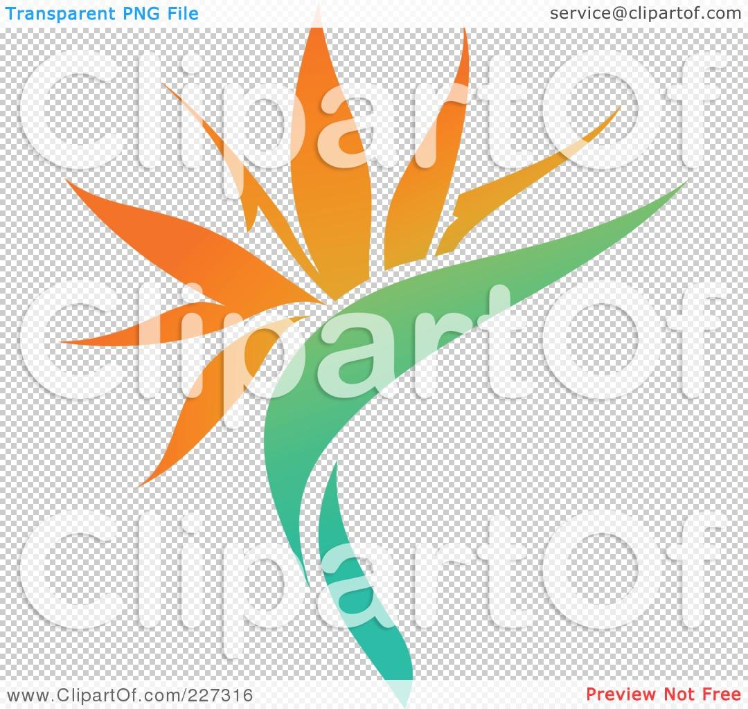 Royalty-Free (RF) Clipart Illustration of an Orange Flower Logo ...