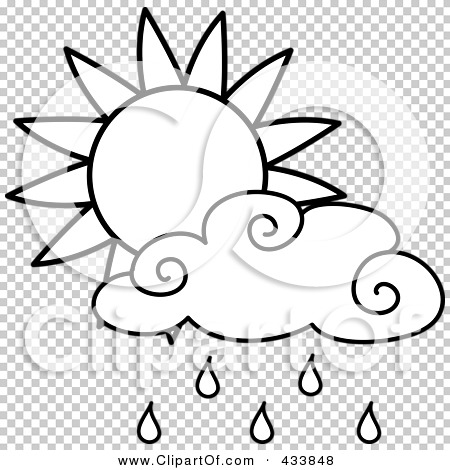 Royalty-Free (RF) Clipart Illustration of an Outline Of A
