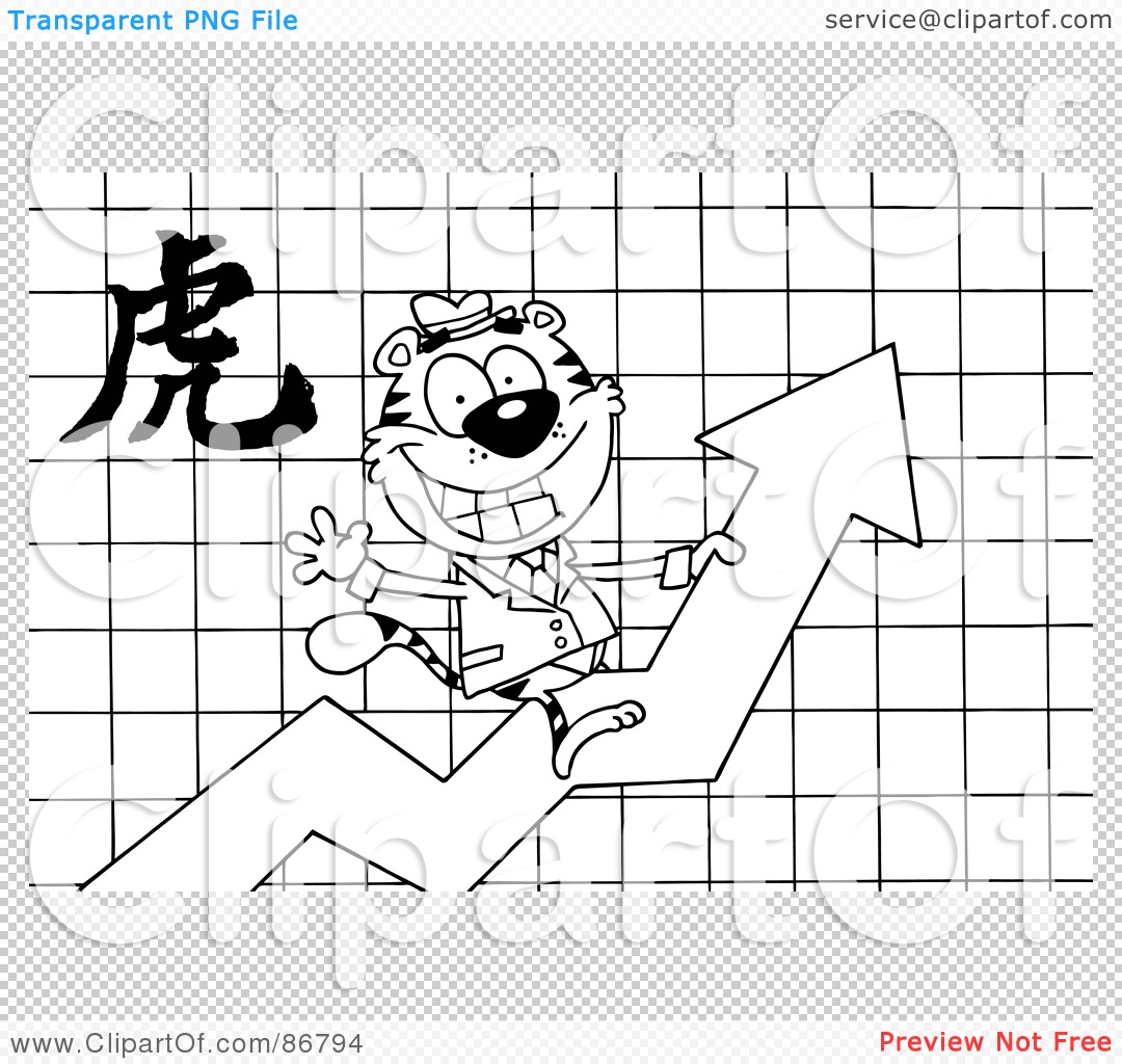 ... Tiger-On-A-Profit-Arrow-With-A-Year-Of-The-Tiger-Chinese-Symbol