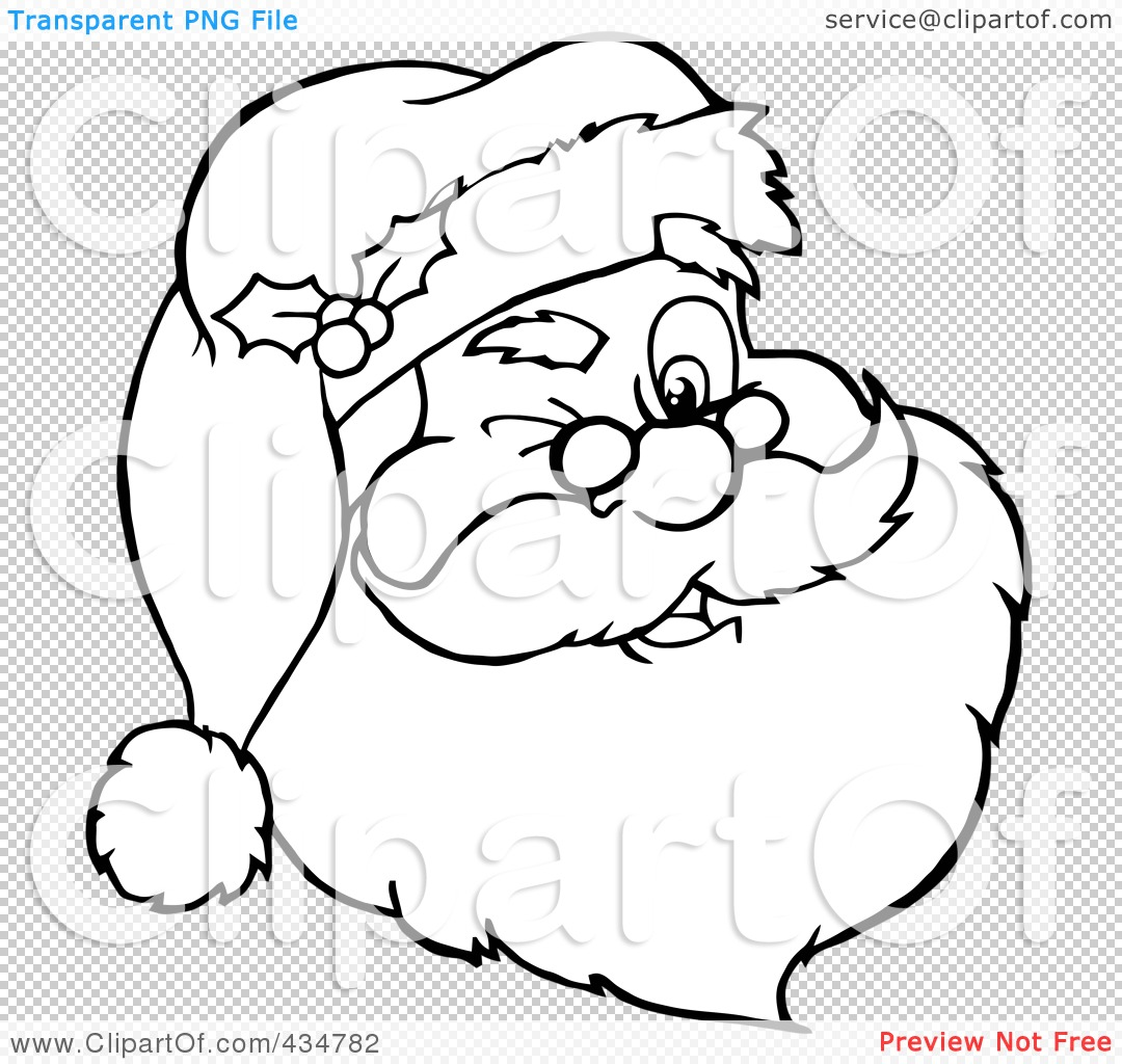Royalty-Free (RF) Clipart Illustration of an Outlined Winking ...