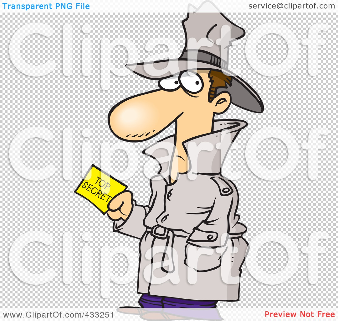 Royalty-Free (RF) Clipart Illustration Of An Undercover Agent ...