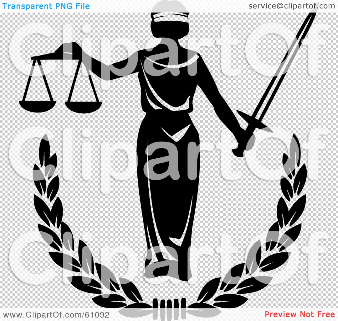 Royalty Free Rf Clipart Illustration Of Blind Justice