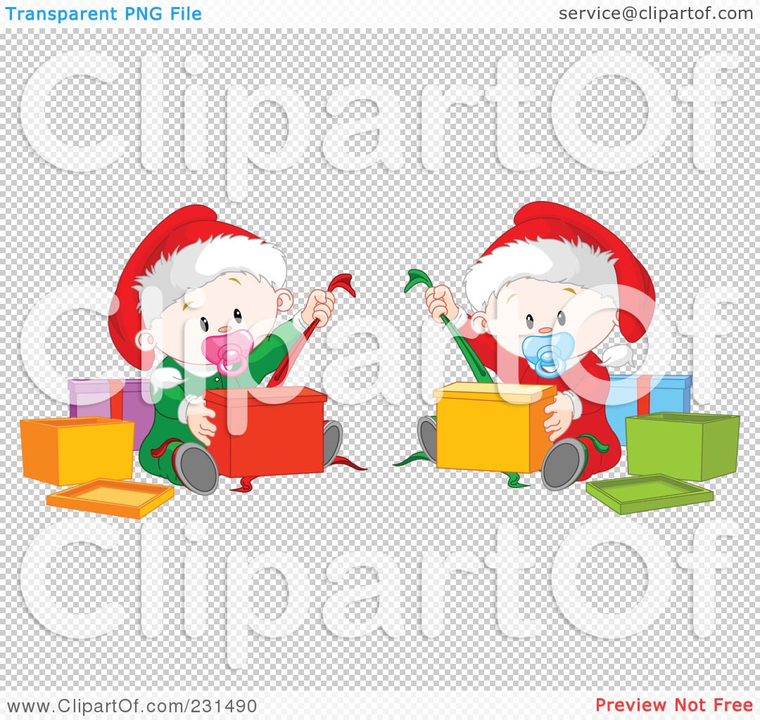 Royalty-Free (RF) Clipart Illustration of Cute Baby Twins ...