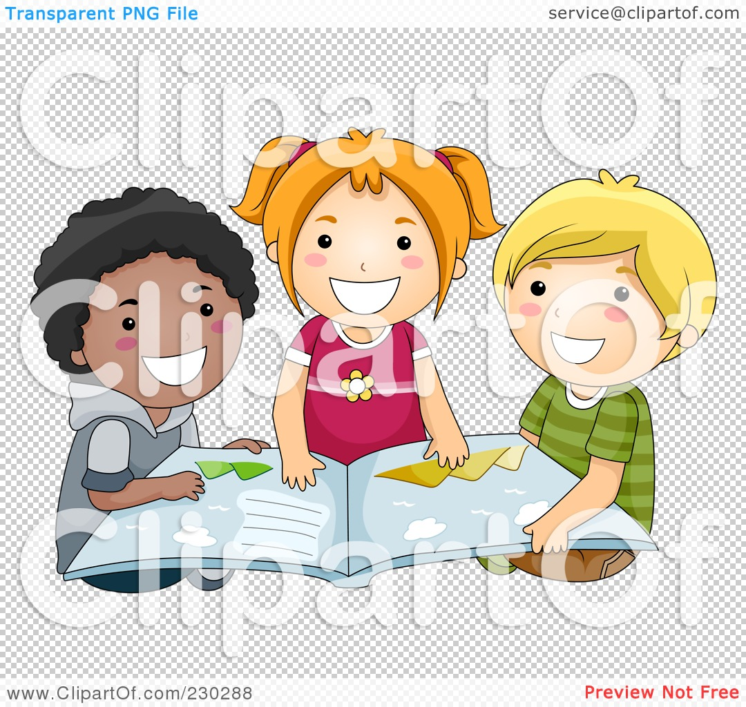 Royalty-Free (RF) Clipart Illustration of Diverse School ...