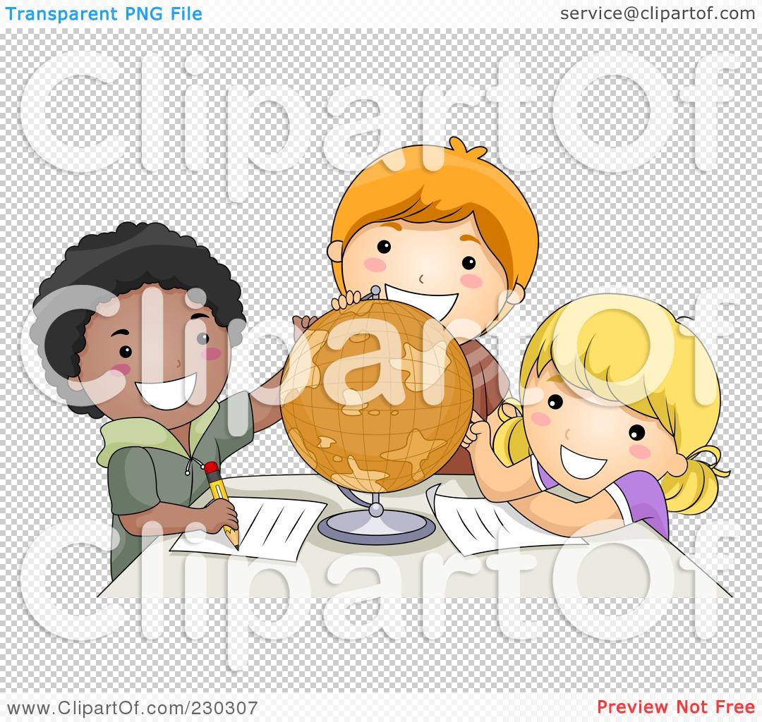 Clipart Children Studying