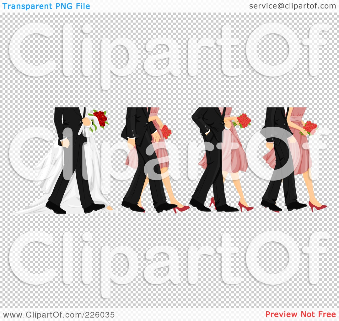 Royalty-Free (RF) Clipart Illustration of Feet Of Bridesmaids ...