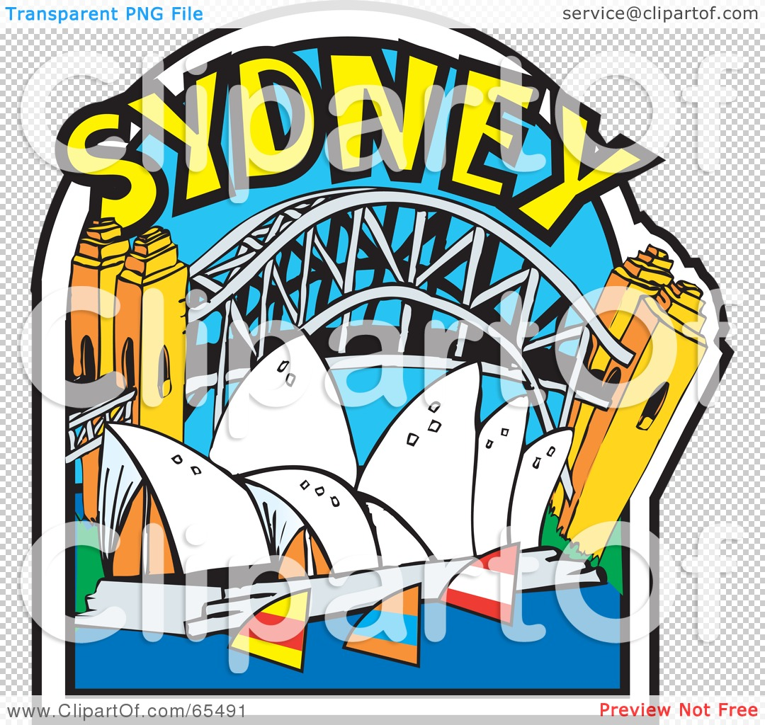 Royalty Free RF Clipart Illustration Of The Opera House Harbour And Bridge In Sydney 102465491 - 20+ Sydney Opera House Images Clipart  Pictures