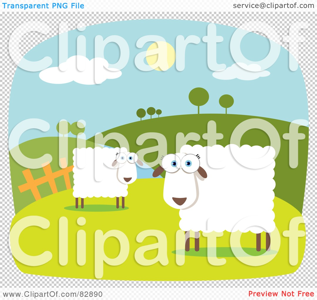 Over The Hill Clipart Border Royalty-free clipart picture