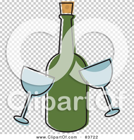 Royalty-Free (RF) Clipart Illustration of Two Wine Glasses By A ...