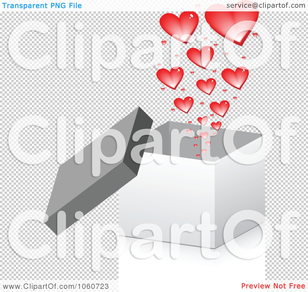 Royalty-Free Vector Clip Art Illustration of a 3d Box With Hearts ...