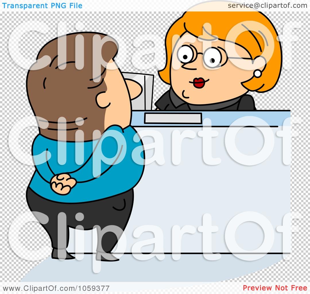 Royalty Free Vector Clip Art Illustration Of A Bank Teller