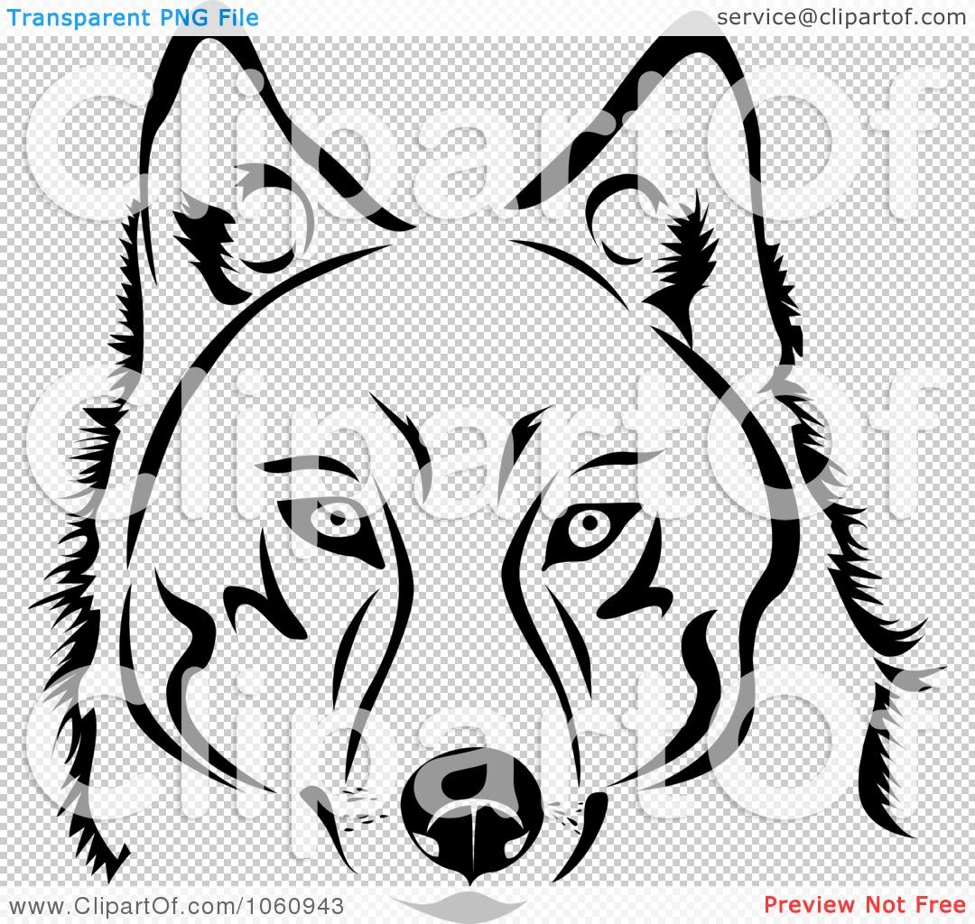 Black and White Dog Clip Art