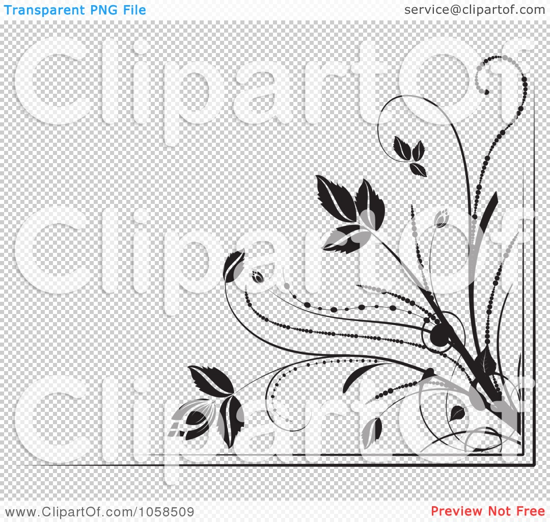 Royalty-Free Vector Clip Art Illustration of a Black And White Ornate ...