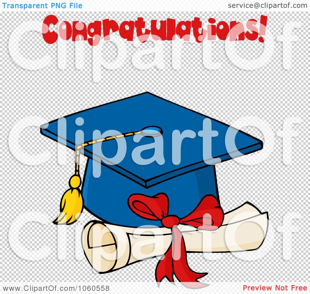 Royalty-Free Vector Clip Art Illustration of a Blue Graduation Cap ...