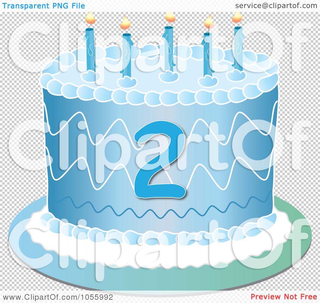 Royalty-Free Vector Clip Art Illustration Of A Blue Second