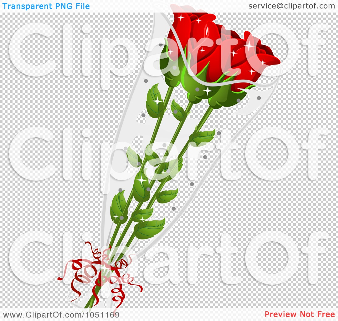 Royalty-Free Vector Clip Art Illustration of a Bouquet Of Red Long ...