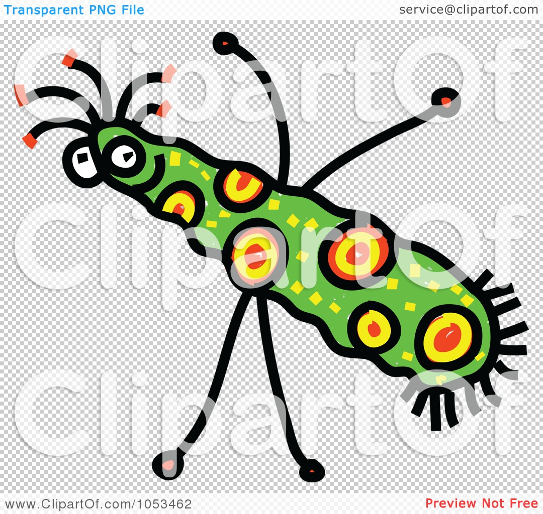 Royalty free vector clip art illustration of a cartoon germ 4
