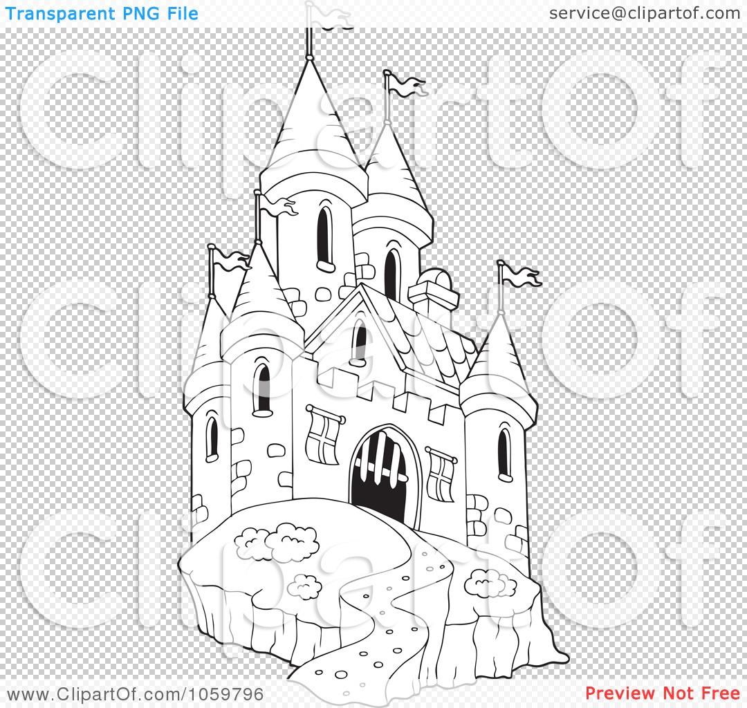 Coloring pages castle - Png File Has A