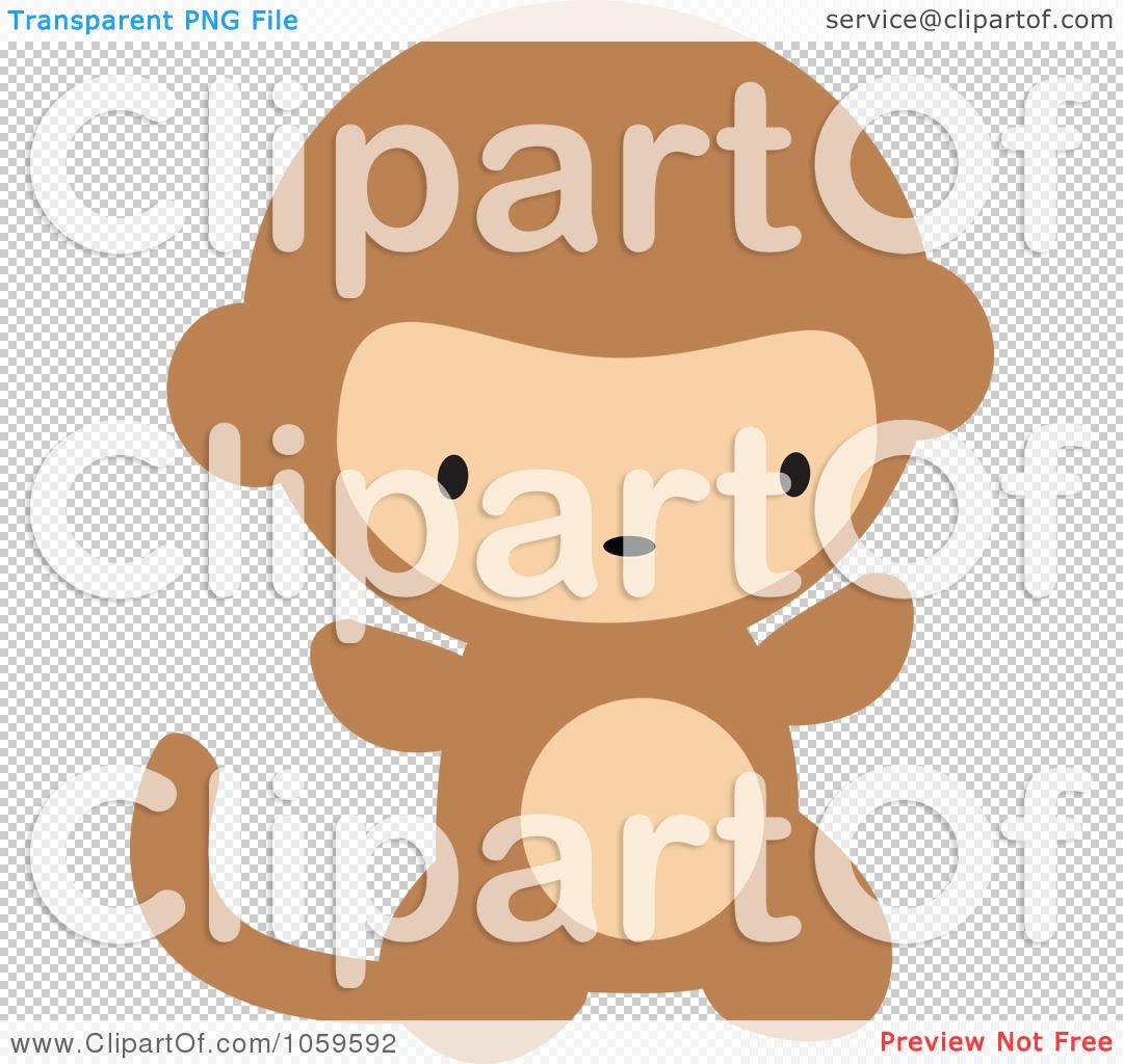 Baby Diaper Cartoon Baby Monkey in Diaper Cartoon