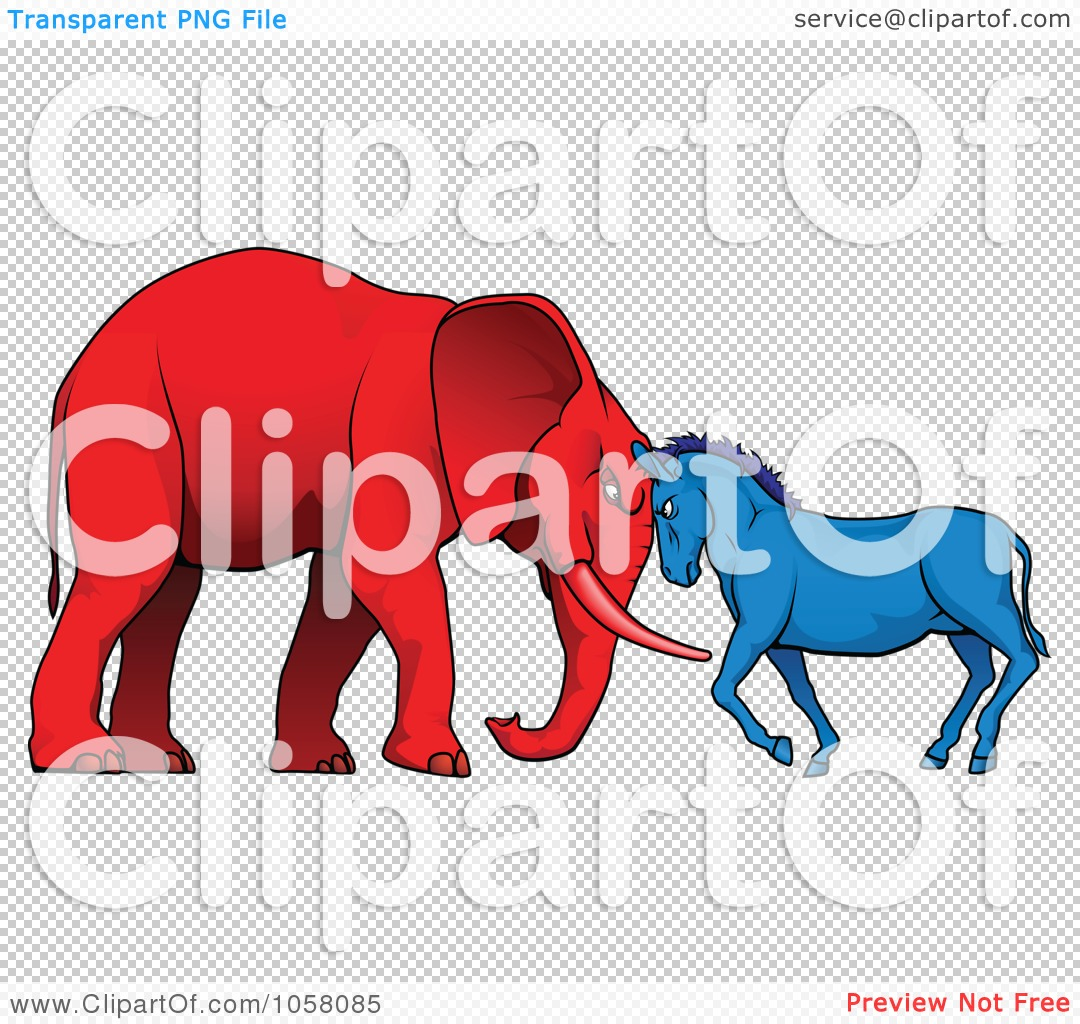Elephant Vs Donkey Politics Of a democratic donkey and