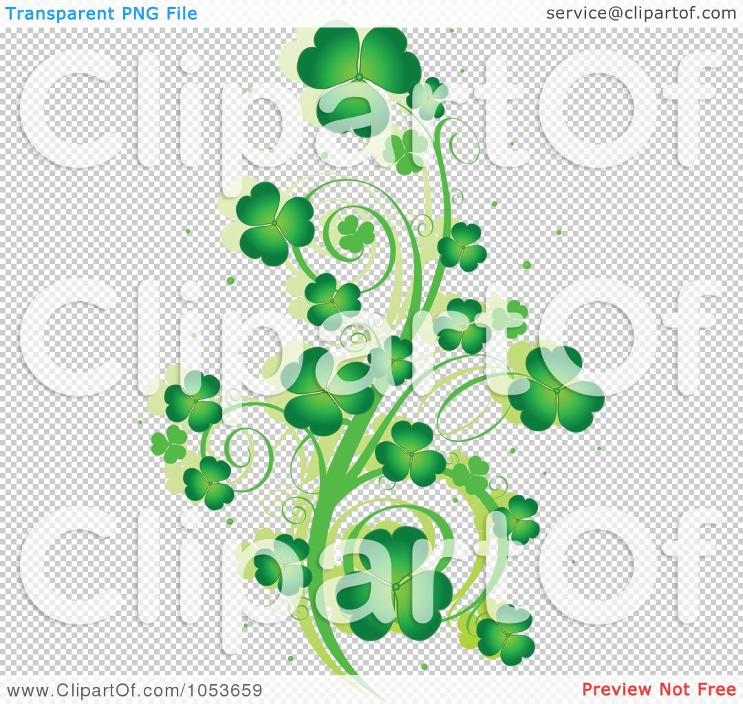 royalty free vector clip art illustration of a green st patricks