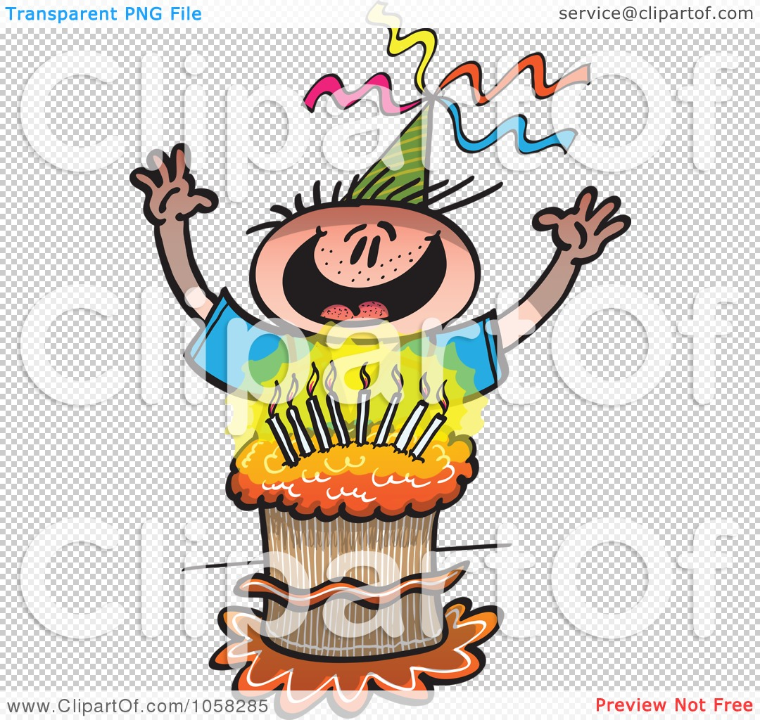 Royalty-Free Vector Clip Art Illustration of a Happy Birthday Boy ...