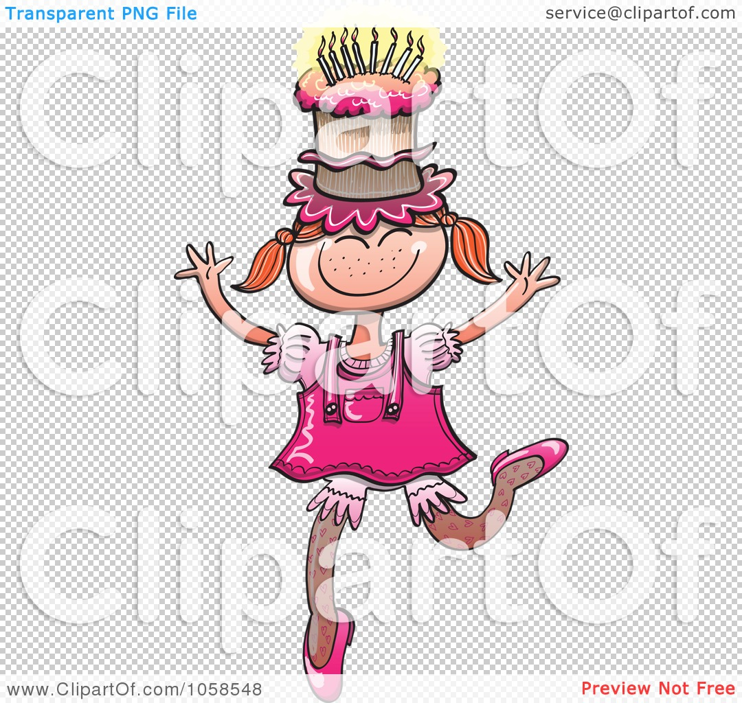 Clipart Birthday Dancing Cake : Royalty-Free Vector Clip Art Illustration of a Happy ...