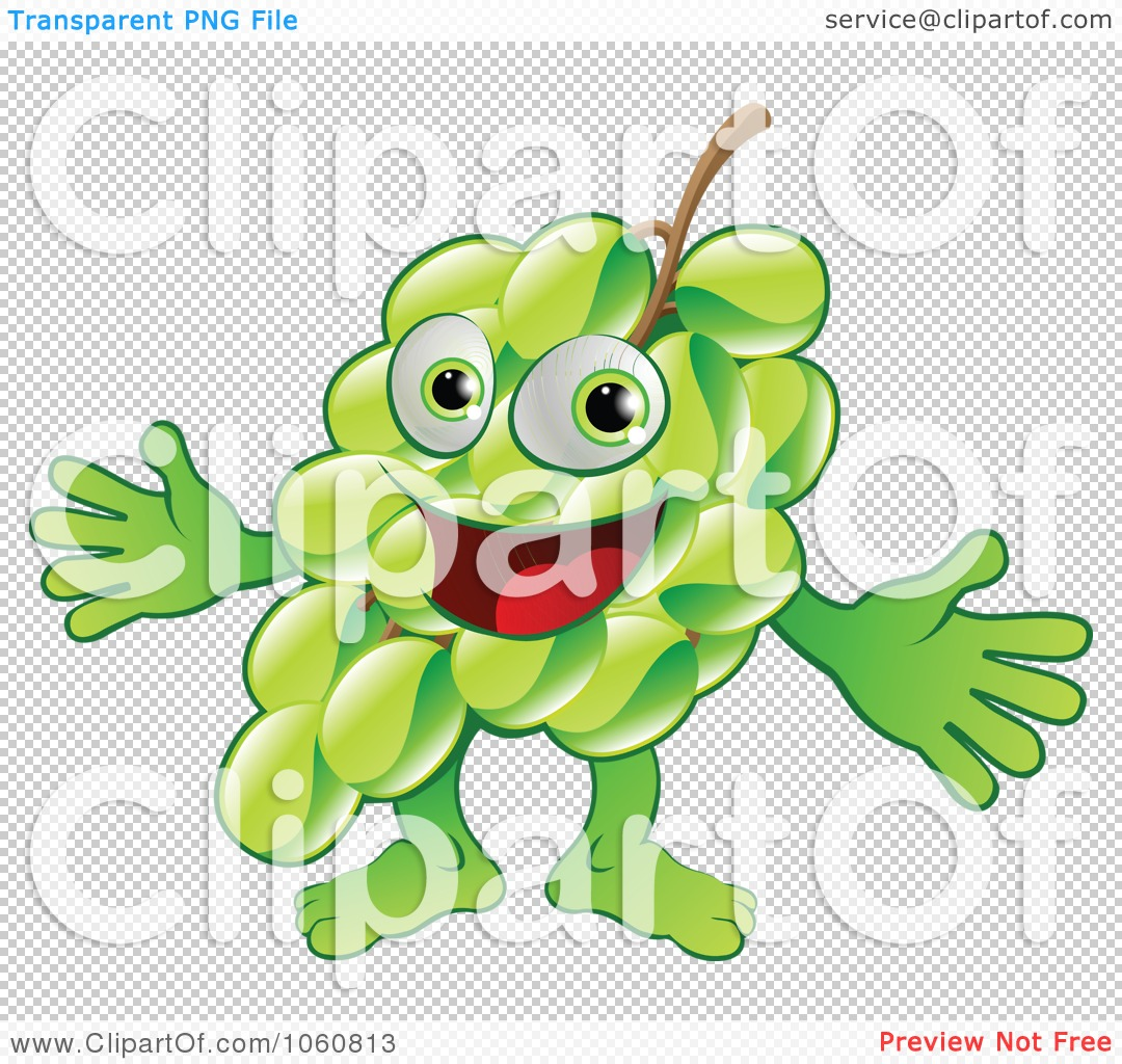 Royalty-Free Vector Clip Art Illustration of a Happy Green ...