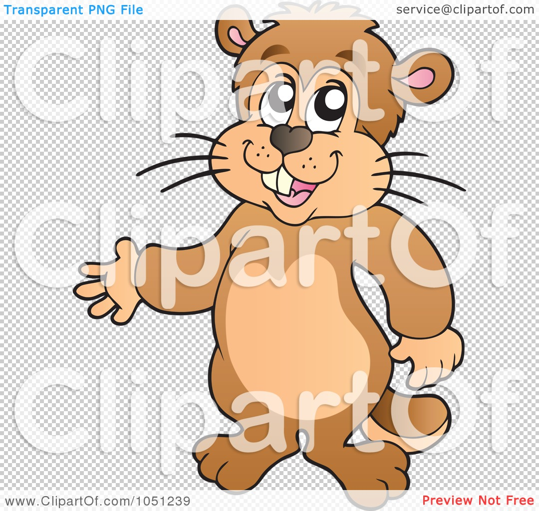 Happy Groundhog Day Clip Art Royalty-free clipart illustration of a ...