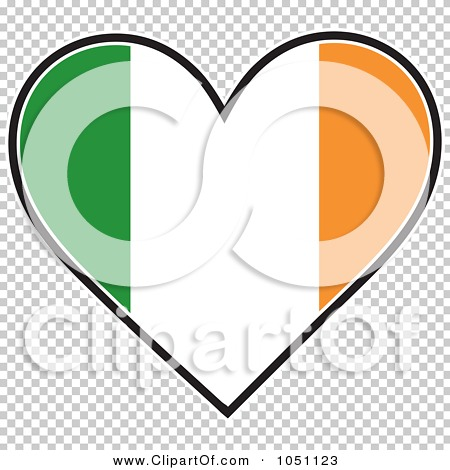 Royalty-Free Vector Clip Art Illustration of a Heart With Irish ...