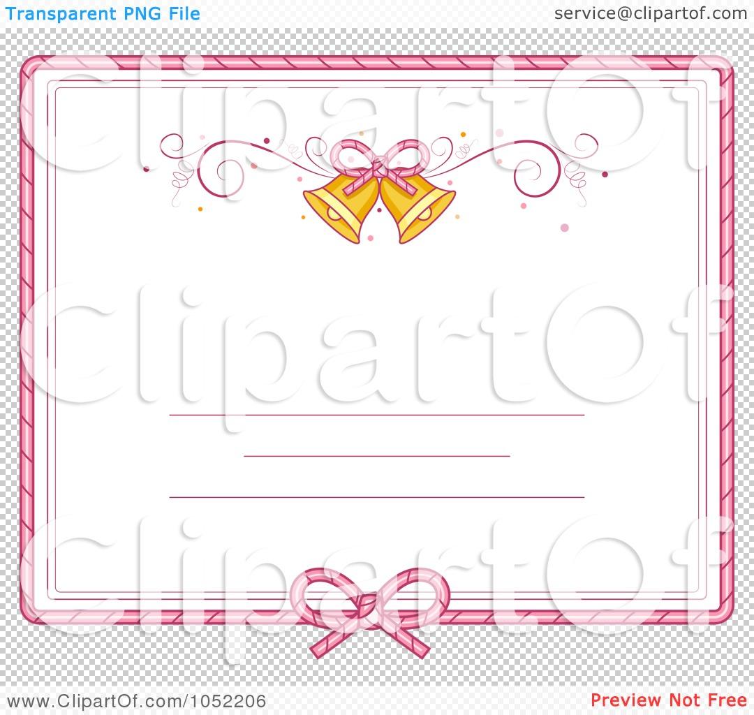 Pink Wedding Borders Clip Art: Royalty-Free Vector Clip Art Illustration Of A Pink Border